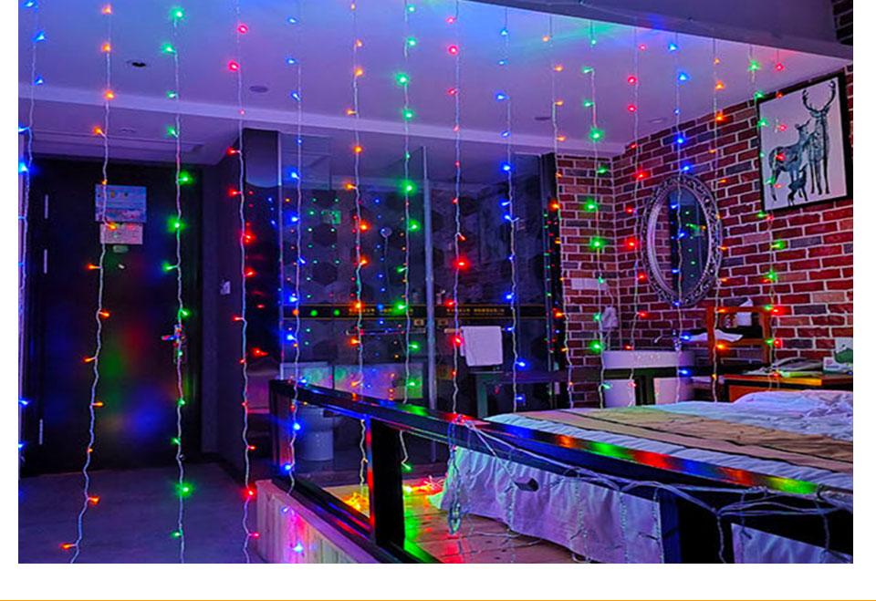 4.5M led wedding fairy string light christmas lights AC 110V 220V Star Led Curtain String halloween Light Decor For Home Party (20)