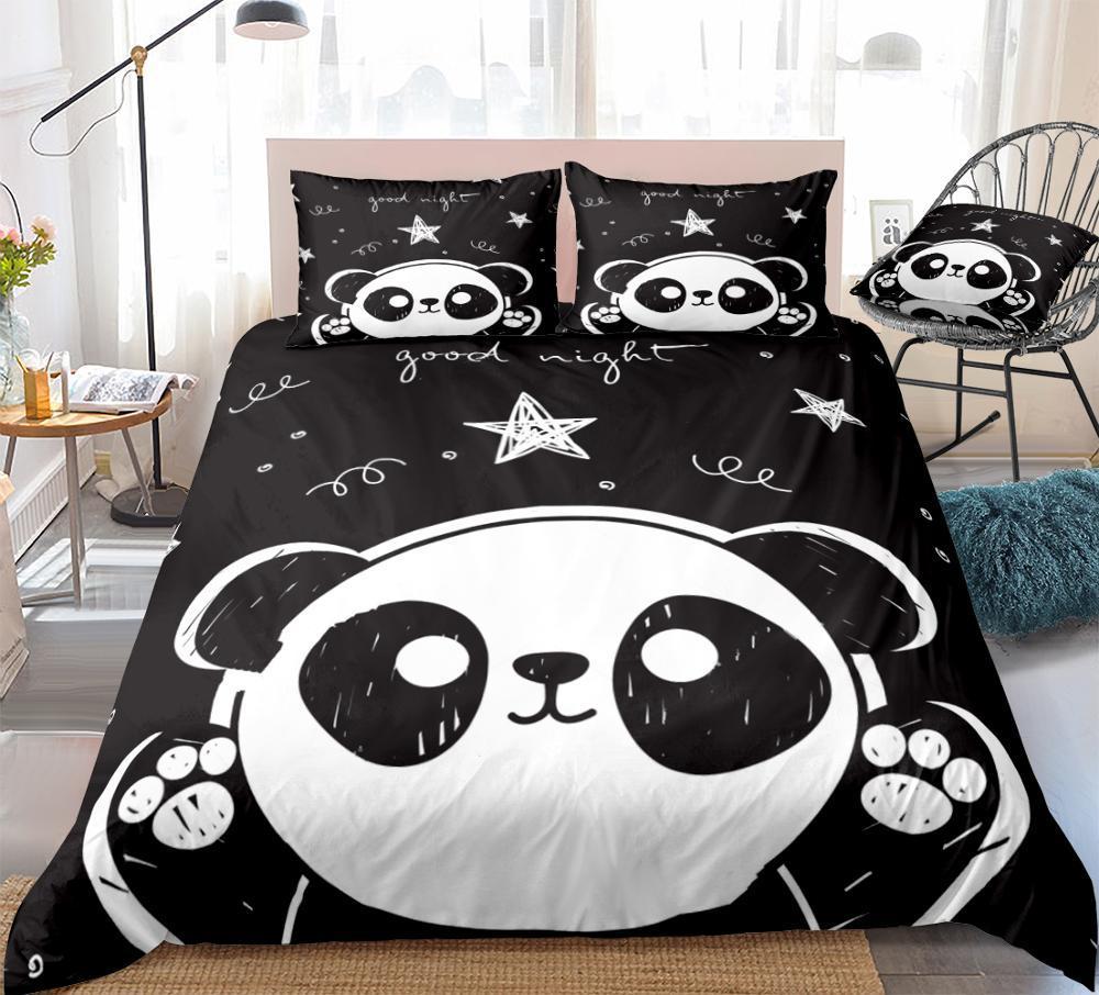 Housse de couette de luxe Big Panda 3D