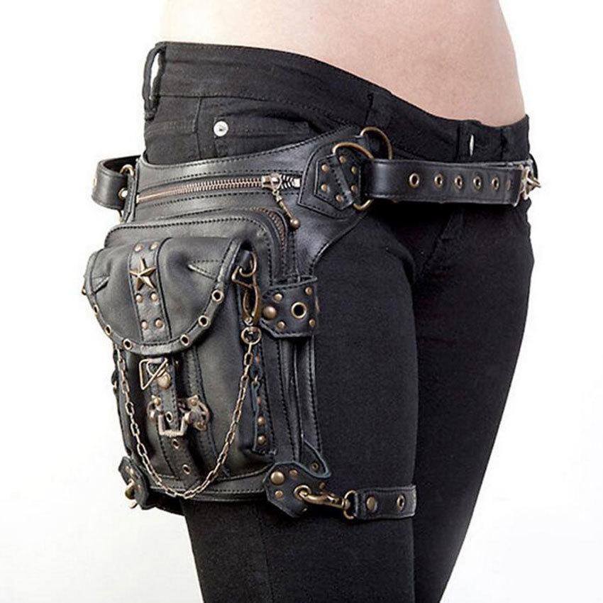 Lady Pockets Retro Messenger Bag Punk Mujer Femme Women Shoulder Bag Men Hombre Women