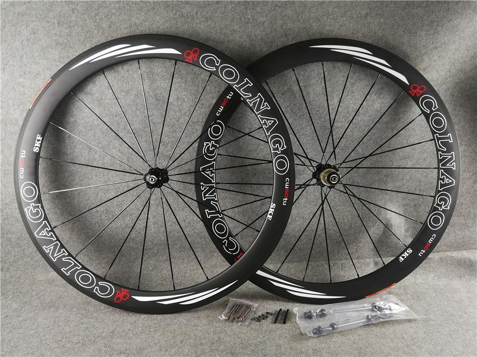50MM Colnago Wheelset 3K Matte Carbon Road Bike Wheels