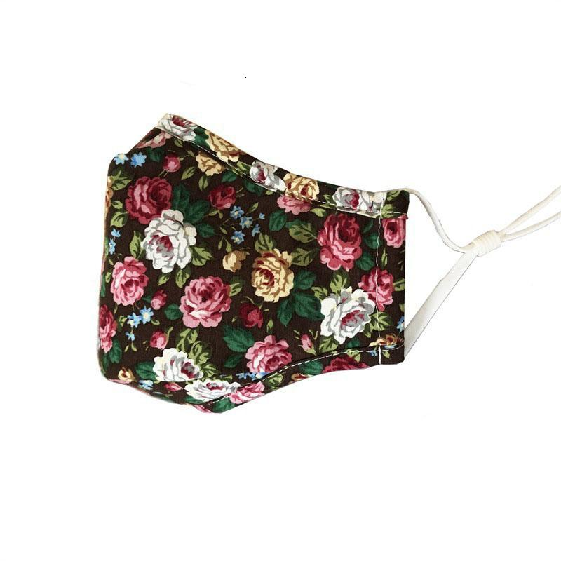 Fashion printed cotton design face mask dust respirator can be washed with water and inserted with filters face masks
