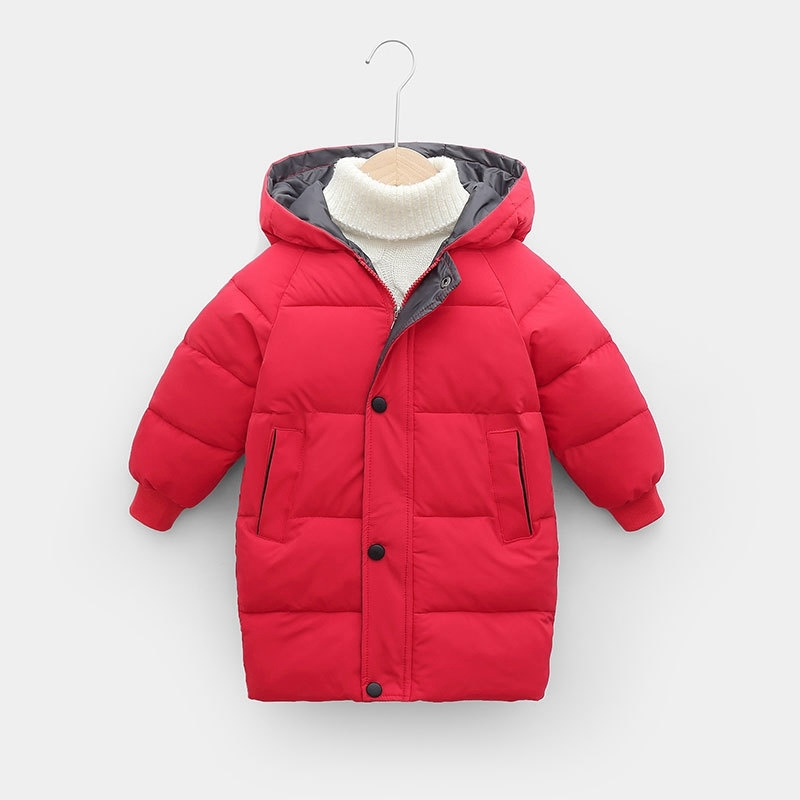 CROAL CHERIE Warm Long Jacket Coat Baby Girls Boys Parka Kids Jacket Hood Winter Children Jacket Winter Fall Toddler Outerwear (3)