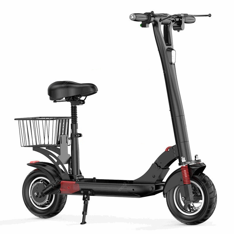 Daibot Foldable Electric Bike 10 Inch Two Wheeled Electric Scooters Speed 45KMH 500W Electric Kick Scooter With SeatSide Light (3)