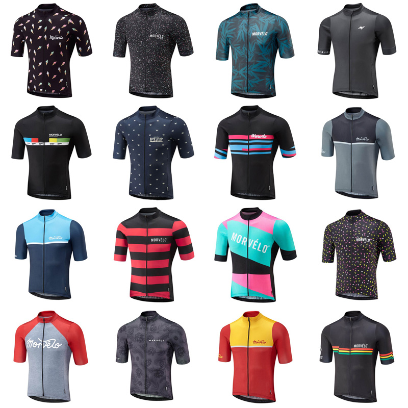 MORVELO team Cycling Short Sleeves jersey Summer mountain bike clothing Sport maillot short shirt Bicycle clothes top wear uniform