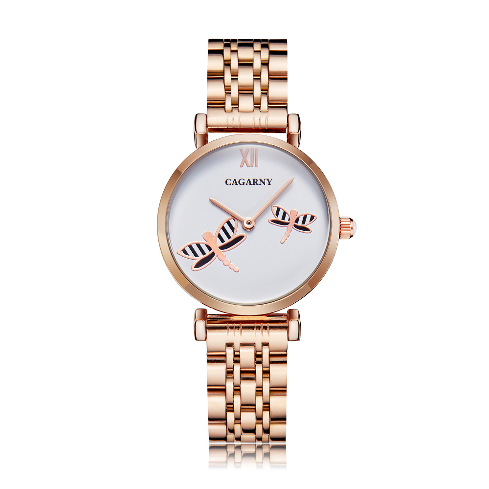 drop shipping shopify rose gold stainless steel bracelet watch for women fashion ladies quartz watches shinning diamonds female clock waterproof free shipping best gifts (3)