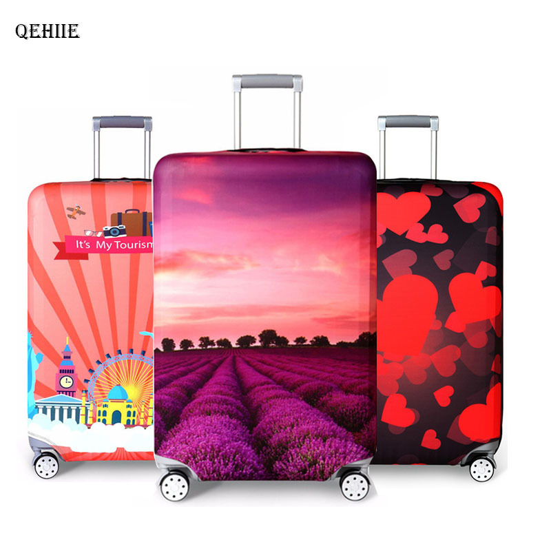 Thicker Travel Suitcase Protective Cover Luggage Case Travel Accessories Elastic Luggage Dust Cover Apply to 18