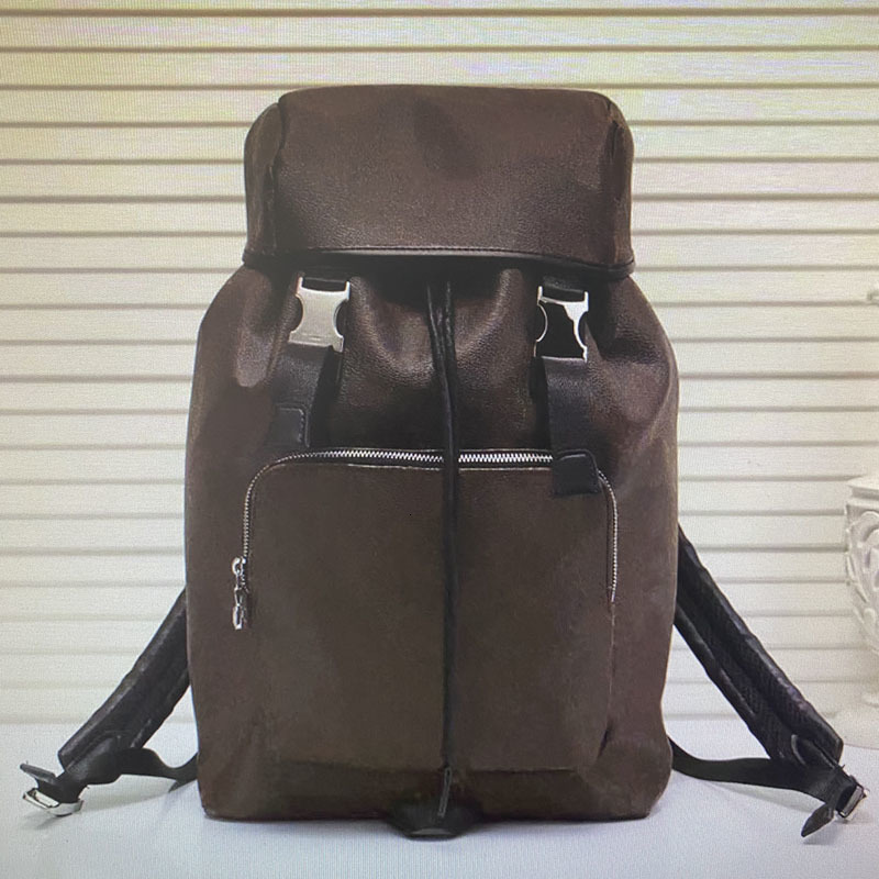 M43422 ZACK BACKPACK Leather Men Travel Bags Backpacks Fashion Classic Cover Tie Rope Backpack Large Capacity Mountaineering Sport Hasp Bag
