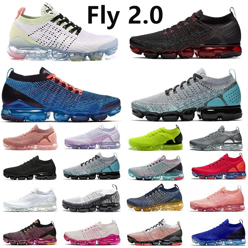 2.0 Fly 3.0 Knit Running Shoes Bred CNY Blue Fury South Beach Black Triple White Men Designer Sports Sneakers us12 Trainer