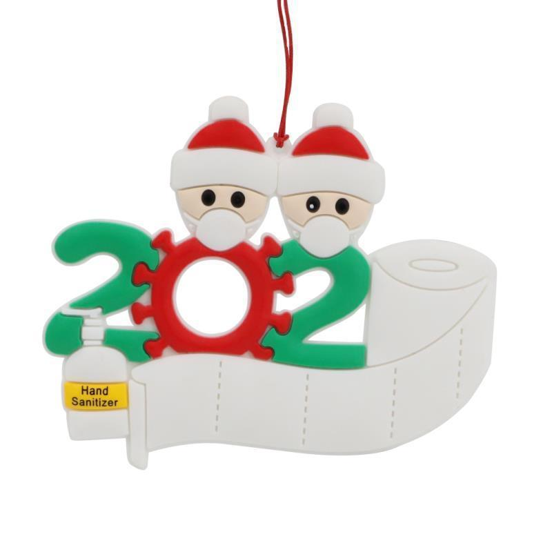 2020 Christmas Ornament Personalized Survivor Family 2 3 4 5 6 7 Resin Decorations Masked Hand-washed Christmas Tree Hanging Pendant