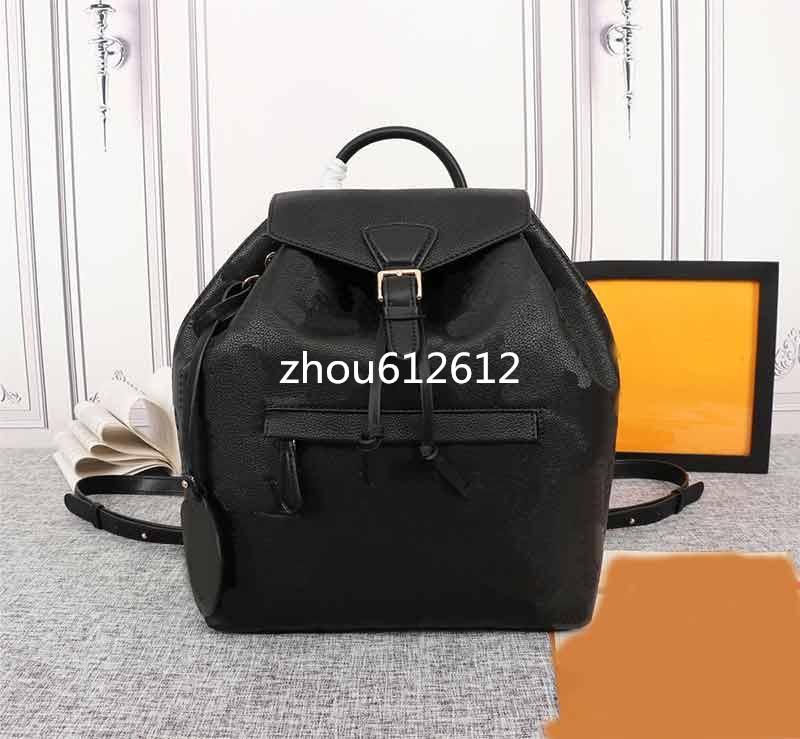 M45205 M45410 M45397 Fashion Montsouris Backpack Embossed Flower Pattern Backpack Women Backpack Designer Satchel High Quality Knapsack