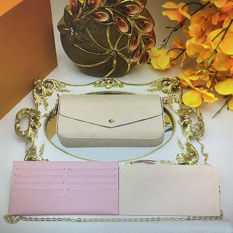 Vintage POCHETTE FELICIE Chain Strap Shoulder Bags Set Women Handbag Crossbody Mini Wallets Mobile Card Holder Purse M61276
