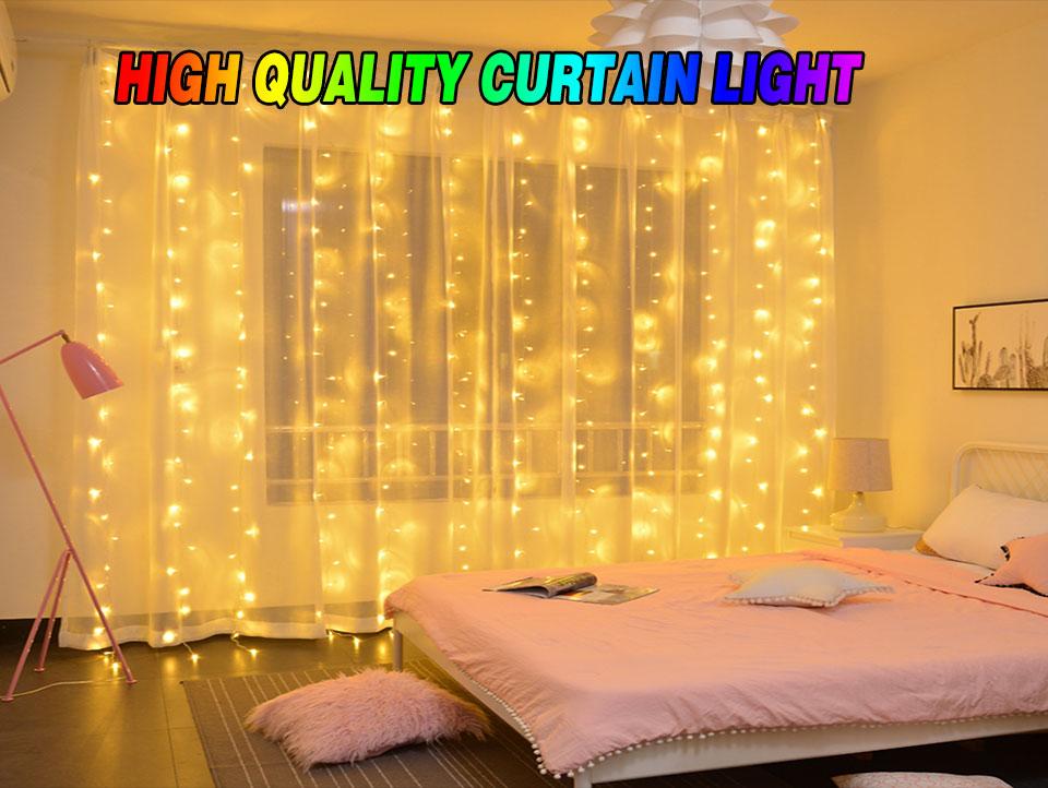 4.5M led wedding fairy string light christmas lights AC 110V 220V Star Led Curtain String halloween Light Decor For Home Party (1)