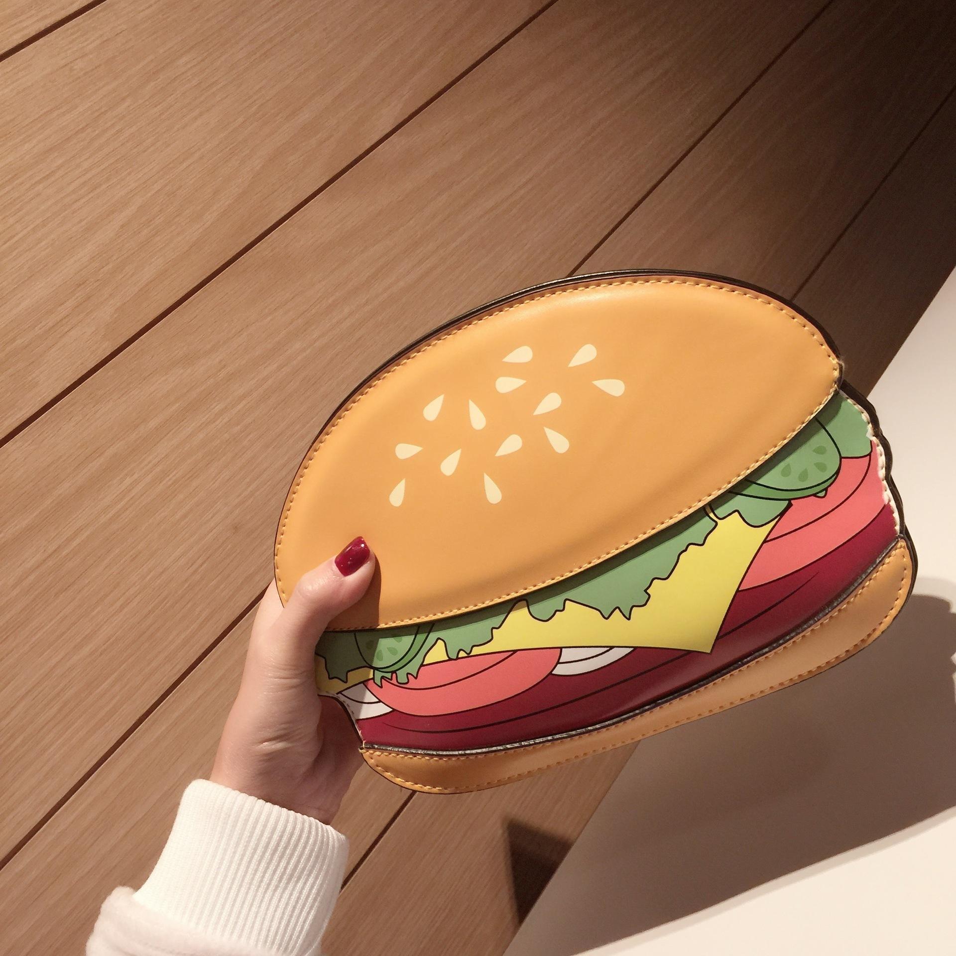 3D Cute Cartoon Women Shoulder Handbag Hamburger Ice cream Cake Bags Small Chain Clutch Crossbody Girls Messenger Bag Watermelon