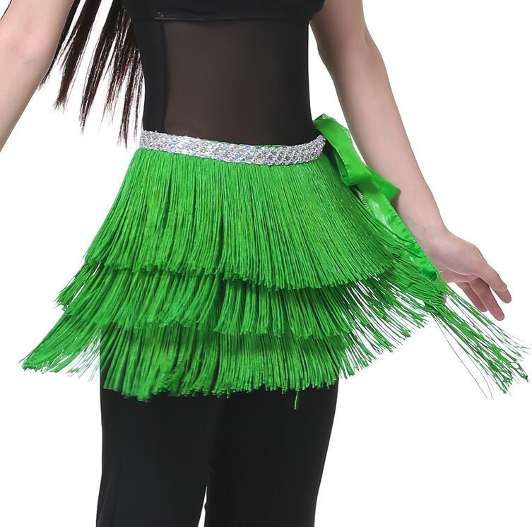 Free EMS DHL Belly Dance Belt 3 Layers Fringe Tassel Belly Dance Waist Belt Chain Sequins Hip Scarf Women's Belly Waistband Skirt