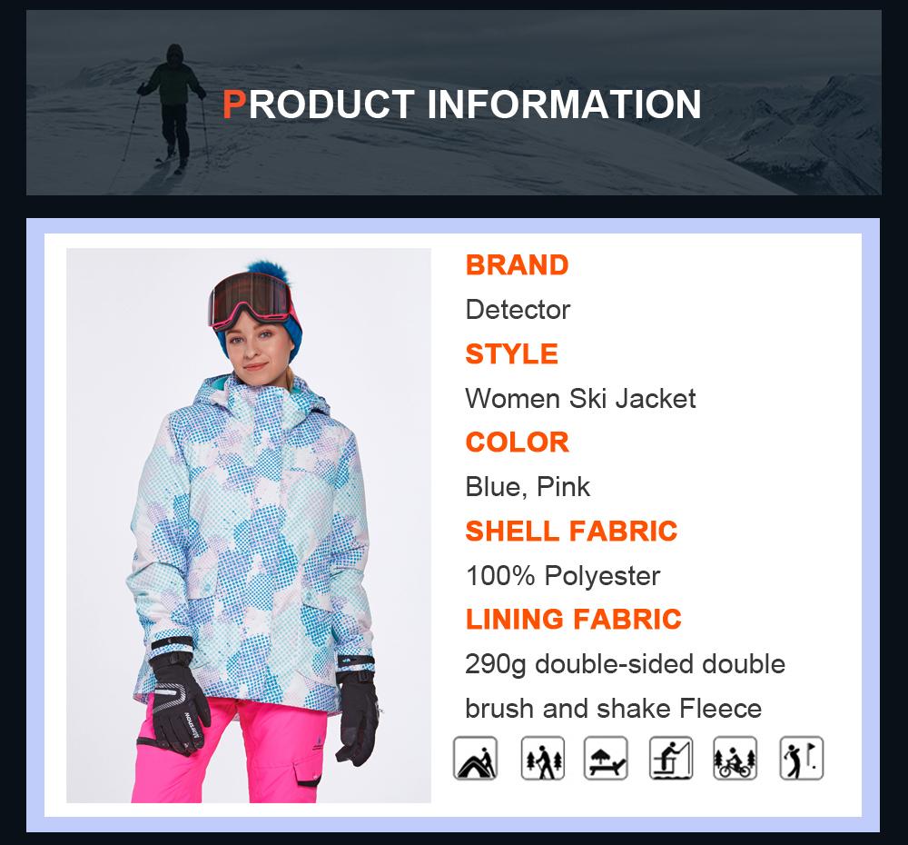 women waterproof ski jacket