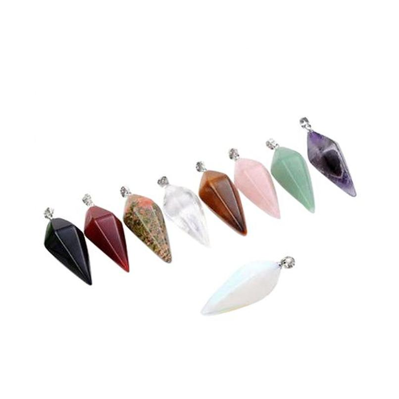 wholesale- 2015 hot sell fashion and cute pendulum healing dowsing reiki chakra crystal pendant for chain necklace 56iw