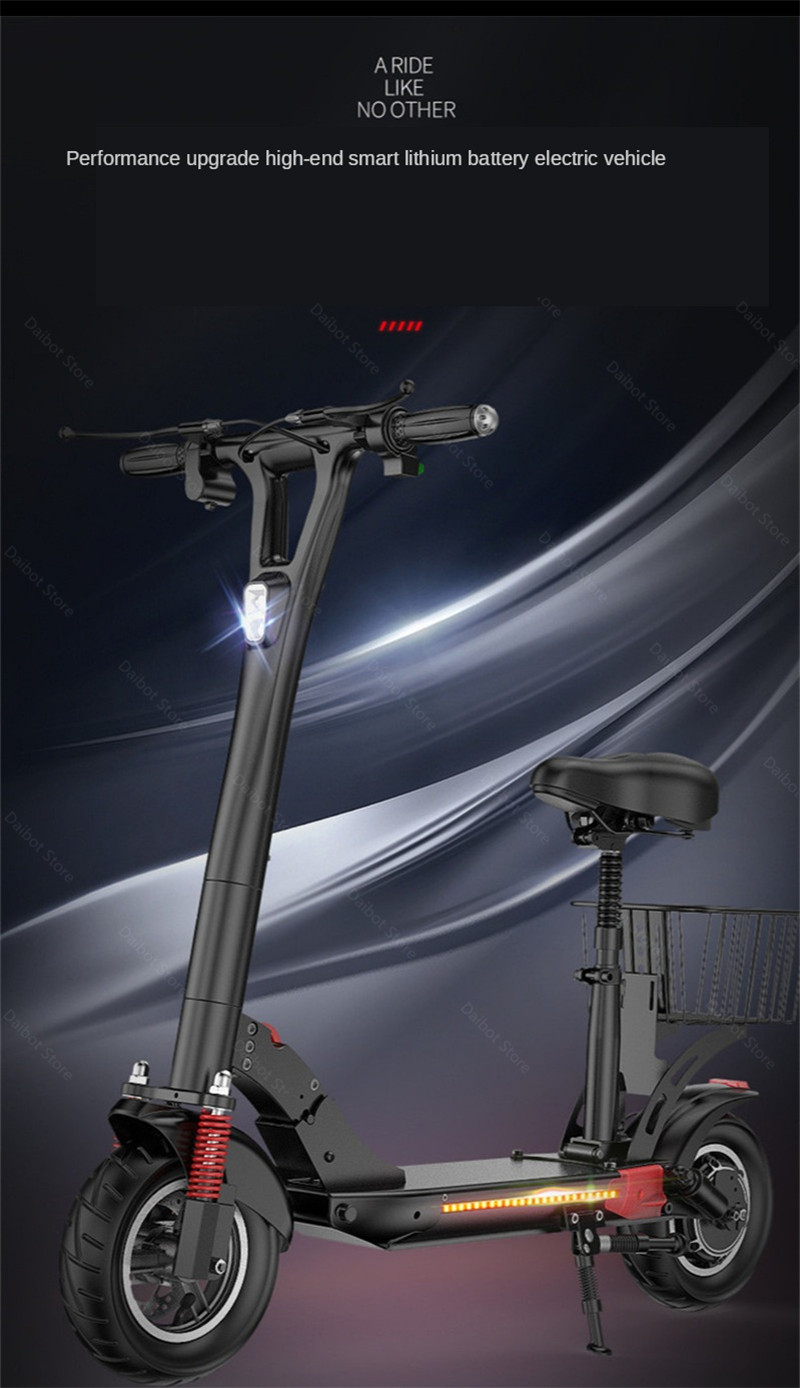 2020 Folding Electric Scooter Two Wheels Electric Scooters 10Inch 500W 48V 60KM Mini Electric Kick Scooter Adult With Bluetooth (26)