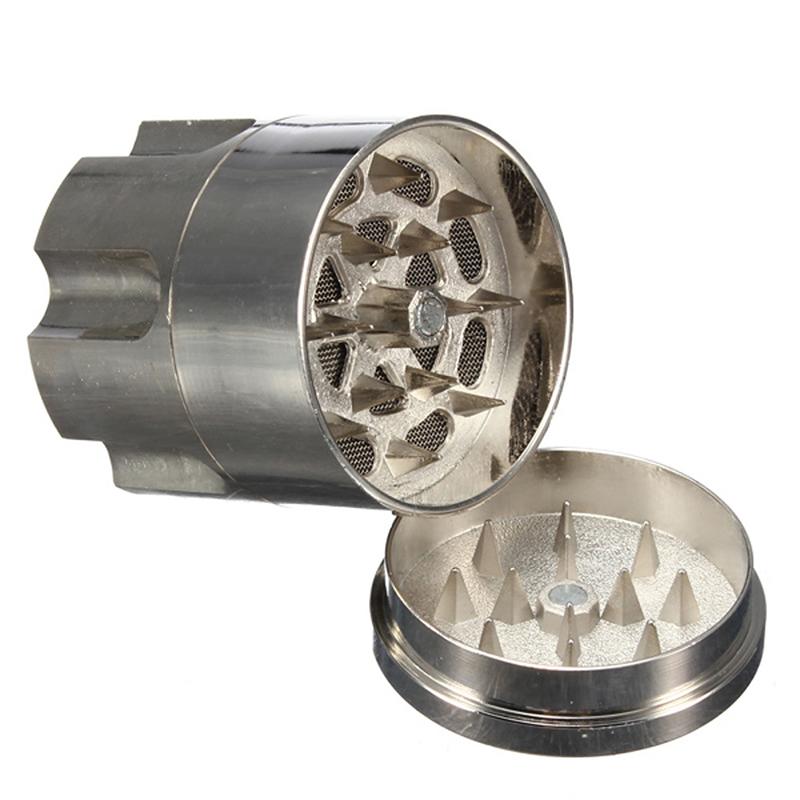 Metal Bullet Shape Tobacco Grinder 26 Teeth 42mm*45mm Herb Spice Crusher Cigar Smoking Grinder Accessory Hand Muller Gift