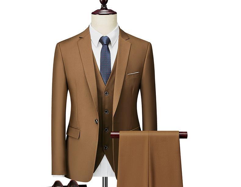 Latest Design Shawl Lapel Mens Dinner Party Prom Suits Groom Tuxedos Groomsmen Wedding Suits For Men Jacket+Pants+Vest