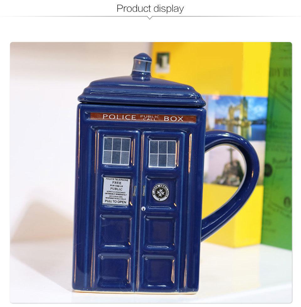 Doctor Who Tardis Police Box Ceramic Mug Cup With Lid Cover For Tea Coffee Mug Funny Creative Gift Christmas Presents Kid Men (7)