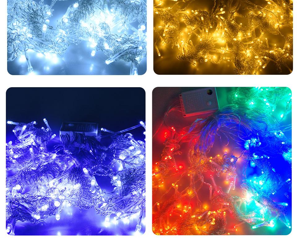 4.5M led wedding fairy string light christmas lights AC 110V 220V Star Led Curtain String halloween Light Decor For Home Party (11)
