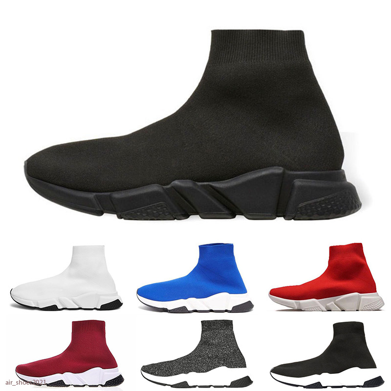 NEW Paris Men Women Flat Sock Boots High Quality Sneaker Triple Black Pink Casual Shoes Mens Trainers Runner