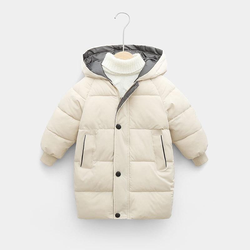 CROAL CHERIE Warm Long Jacket Coat Baby Girls Boys Parka Kids Jacket Hood Winter Children Jacket Winter Fall Toddler Outerwear (6)