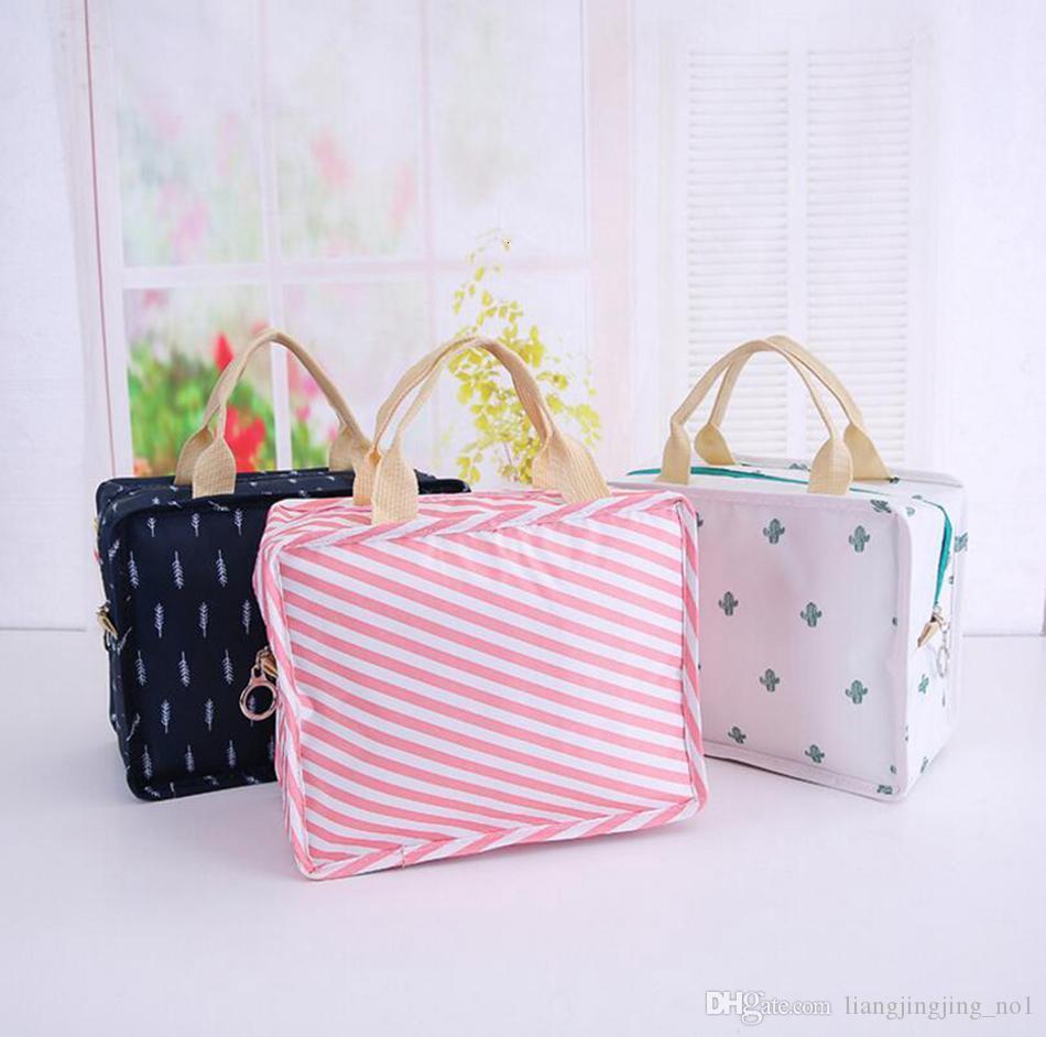 Flamingo Flower Printed Handheld Insulation Pack Lunch Bag Student Dinner Storage Bag Picnic Foil Food Warm Bag OOA4839