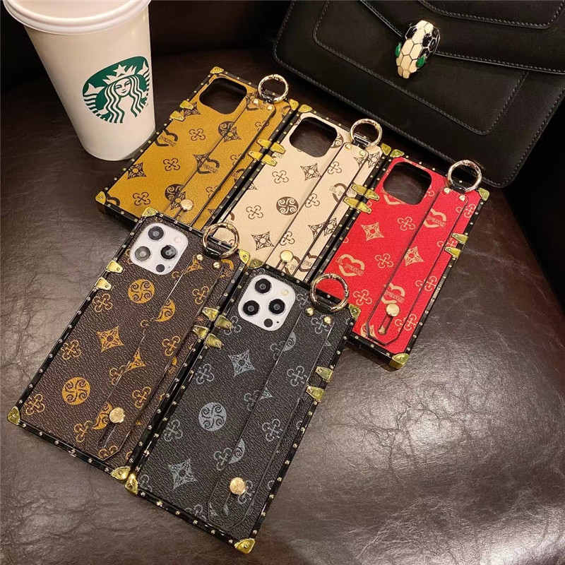 Luxury Vintage Snakeskin Pattern Square Phone Case For iphone 11/12promax 12pro 12mini 11pro XR Xs Max Snake Skin Soft Cover
