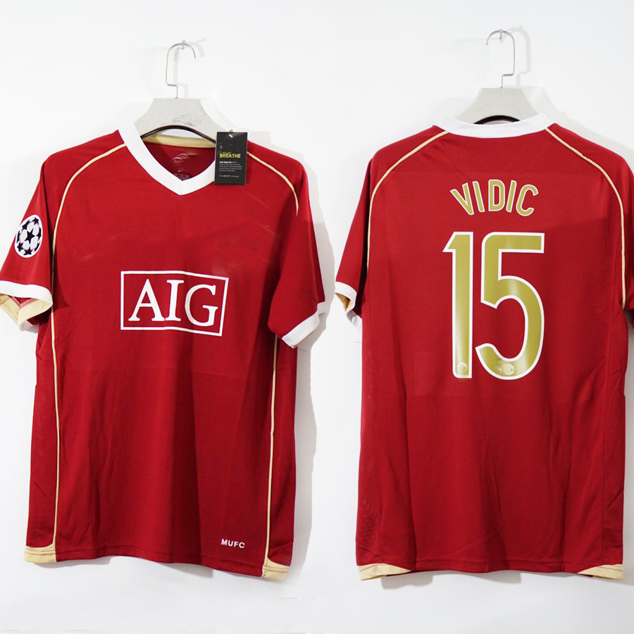 Free shipping 2006 vidic rooney ronaldo vintage soccer jersey