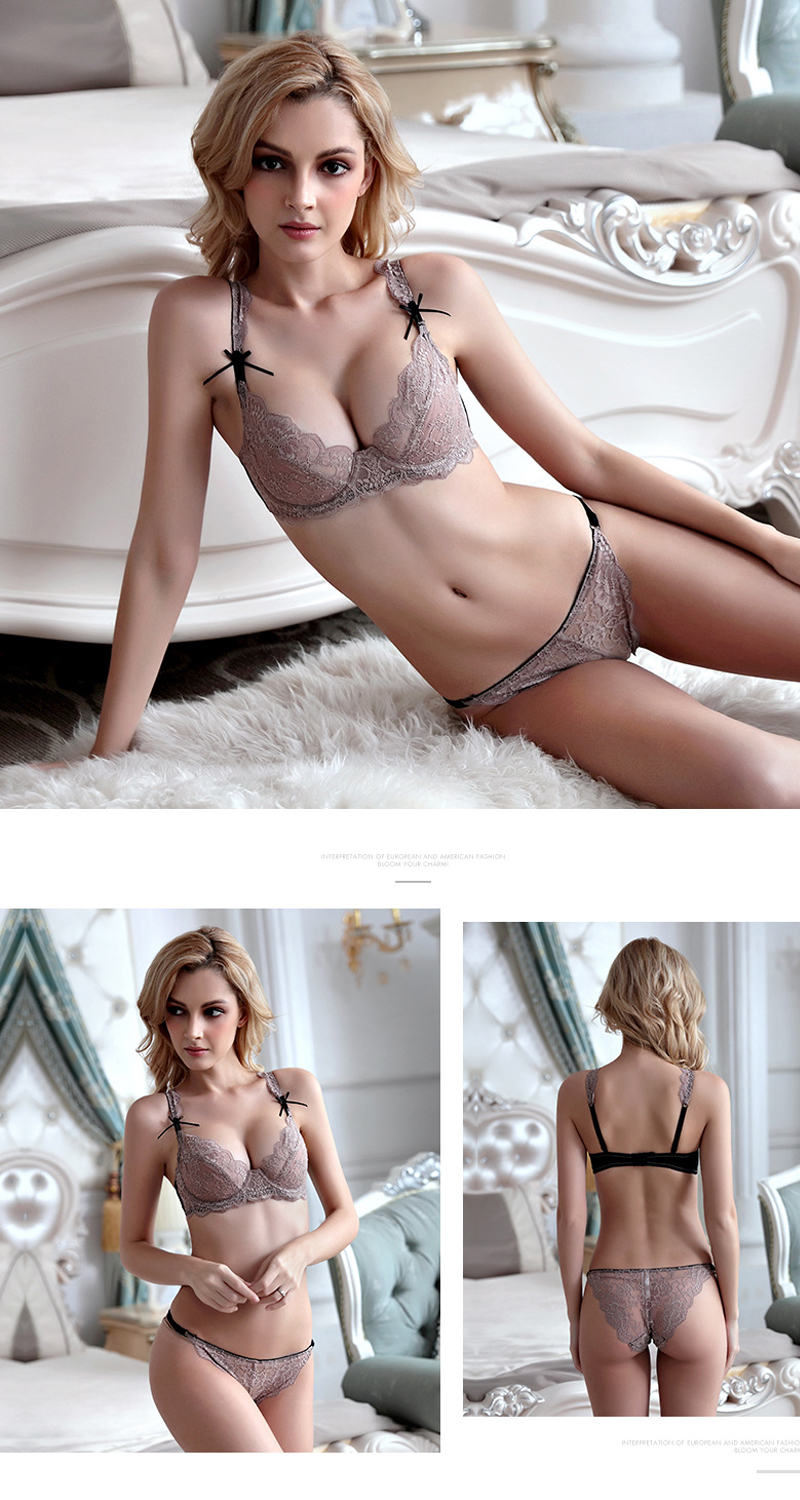lace lingerie bra set