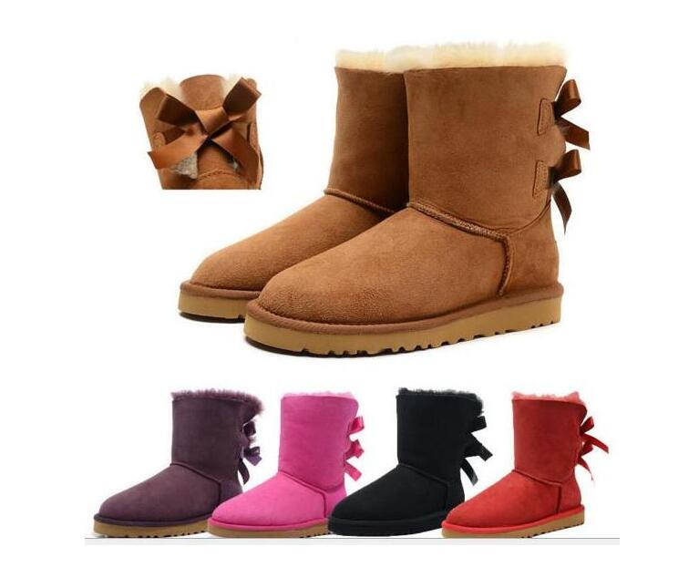 New Women Snow Boots Fashion Winter Boots Classic Mini Ankle Short Ladies Girls Womens Booties Triple Black Chestnut Navy Blue Booties KUP s