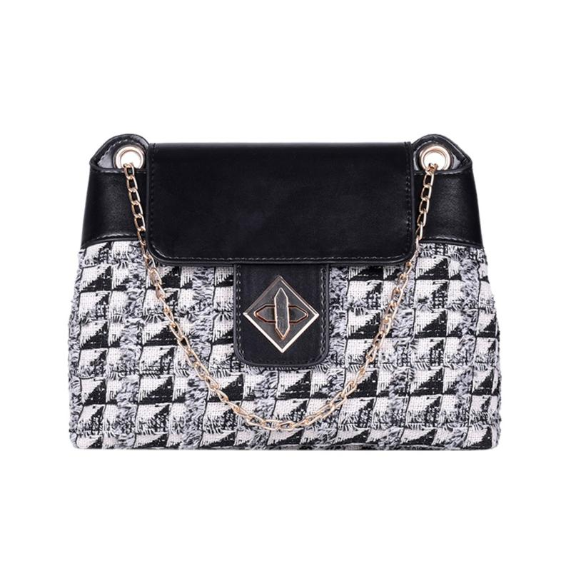 Large Capacity Chains Wool Bag Women Bags Wool Tide Chain Single Shoulder Small Square Handbags Sac A Main Femme Bolsa Feminina