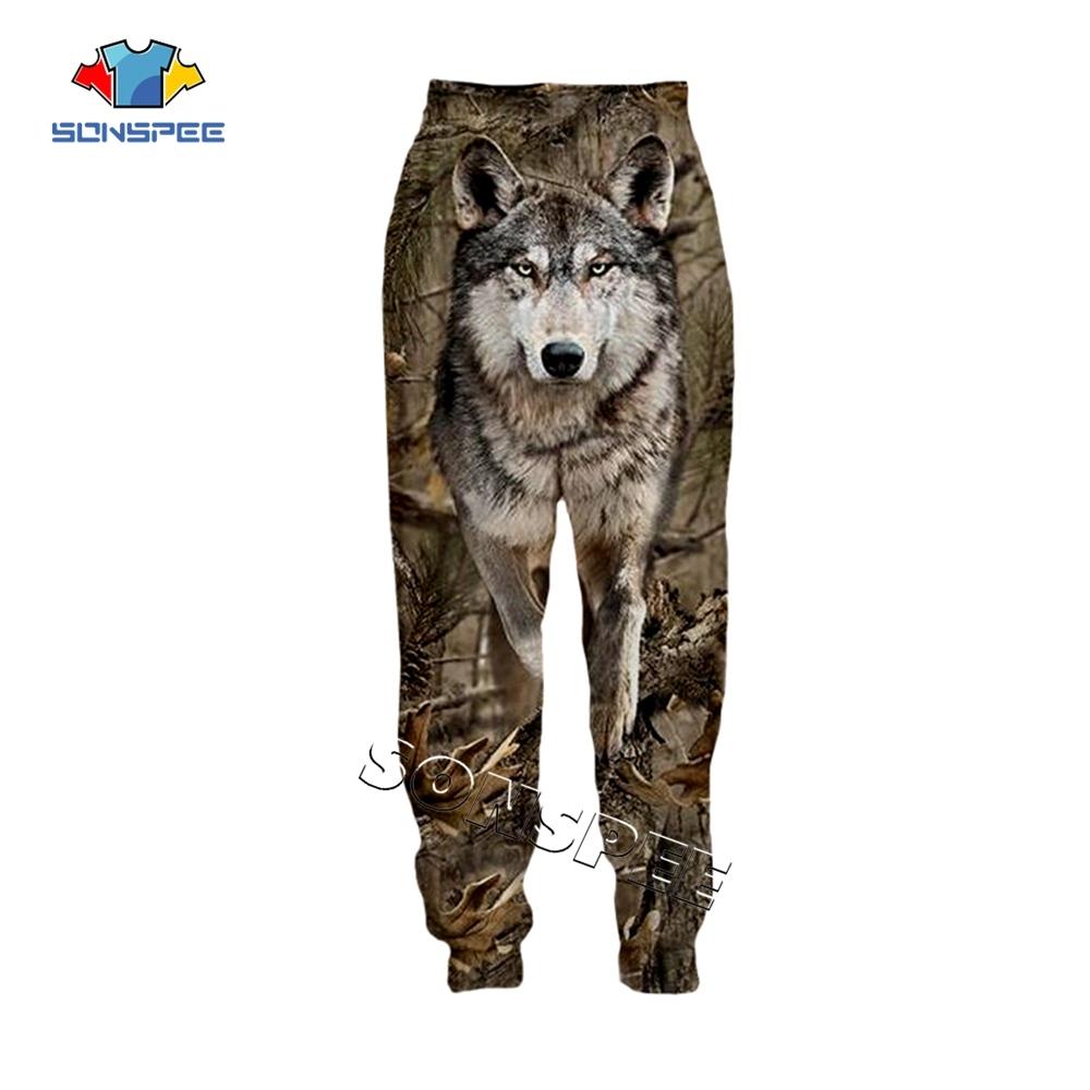 SONSPEE Animal Hunting Hunter 3D Print Harajuku Men Sweatpants Novelty Streetwear Women Fashion Casual Trousers Unisex Long Pant (8)