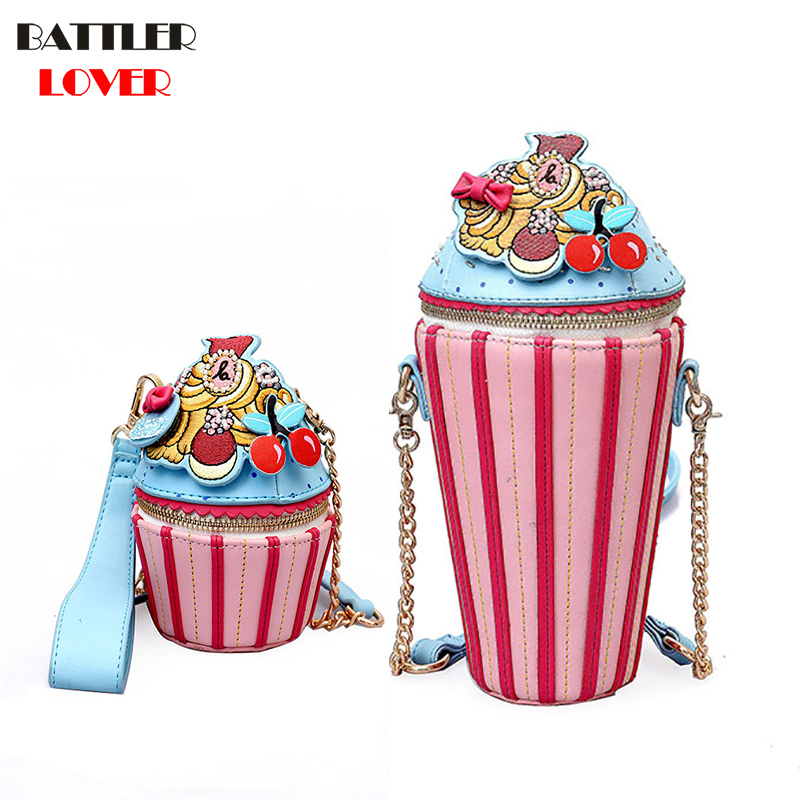 Ice Cream Shape Womens Bags Handbags Crossbody Bags Girls Shoulder Messenger Bag Kids Bag Mujer Handbag for Women