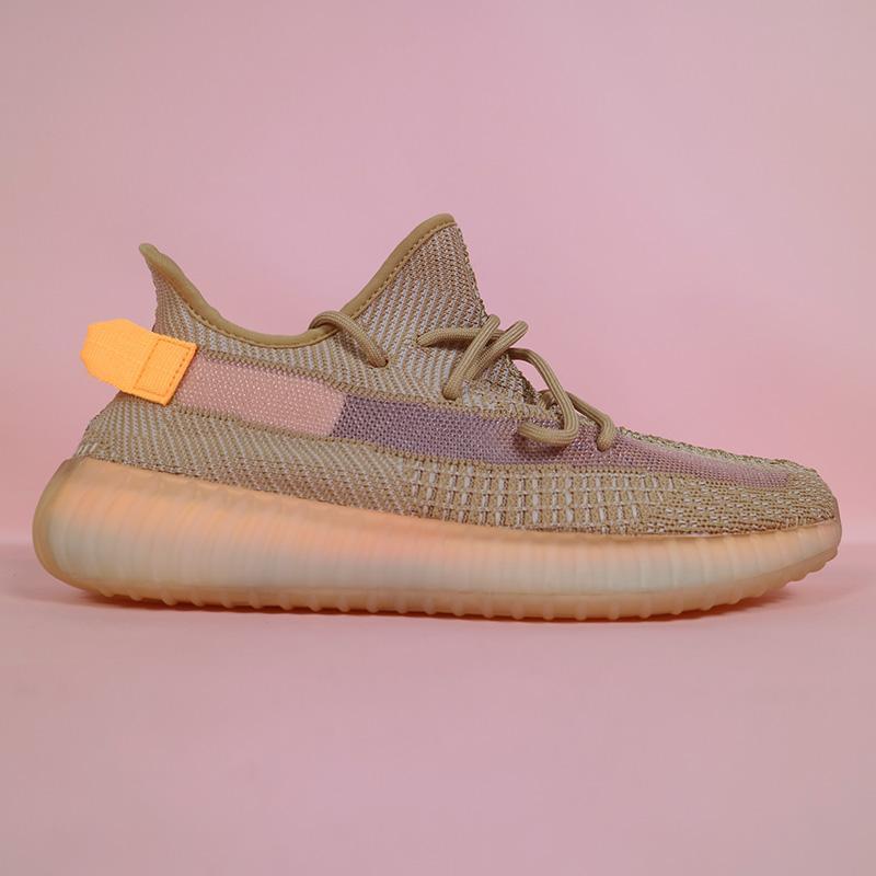 2021 Kanye West Men Women Running Shoes Zebra Cinder Tail Light Reflective ABEZ Linen Mens Trainers sneakers