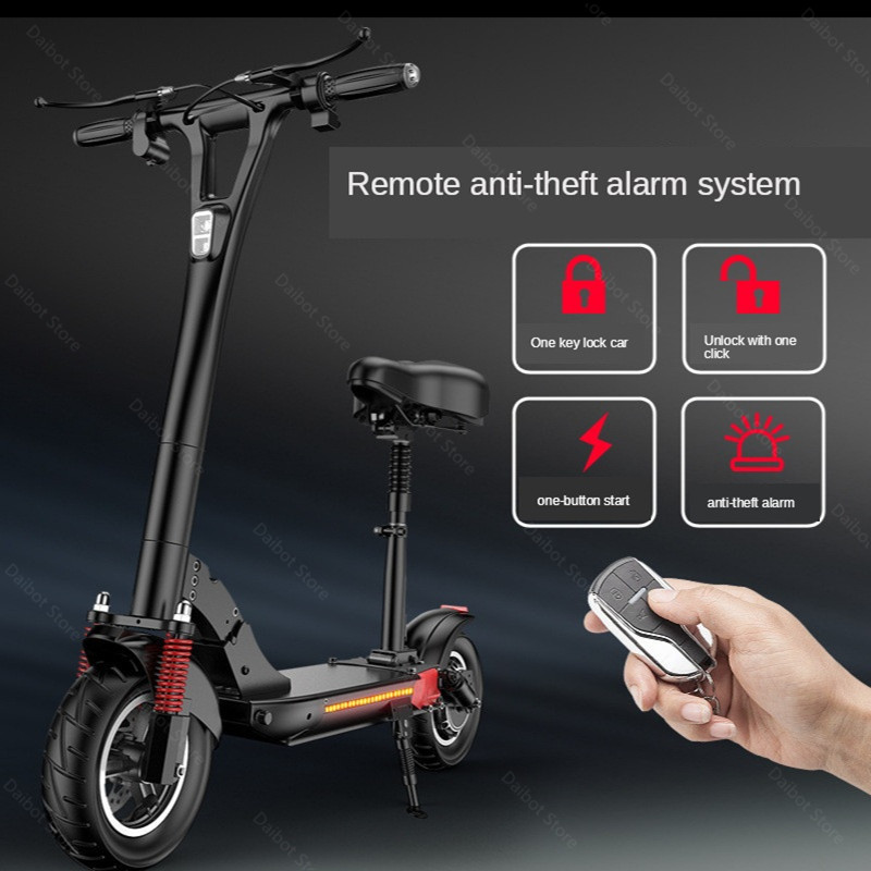 2020 Folding Electric Scooter Two Wheels Electric Scooters 10Inch 500W 48V 60KM Mini Electric Kick Scooter Adult With Bluetooth (38)