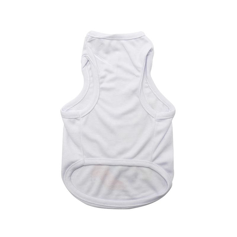 Sublimation Blank Dogs T Shirt Pets White Sleeveless DIY Dog Puppy Vest Clothes Apparel Supplies 3 Sizes Polyester Fiber Hot 10 5ex M2