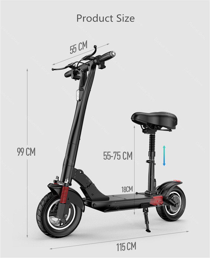 2020 Folding Electric Scooter Two Wheels Electric Scooters 10Inch 500W 48V 60KM Mini Electric Kick Scooter Adult With Bluetooth (27)