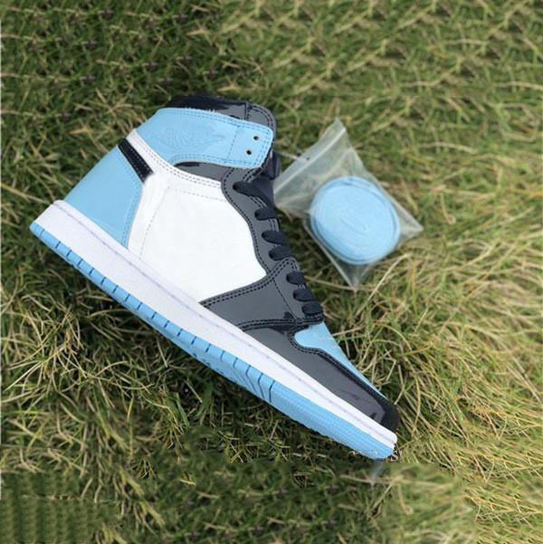 High Quality 1 High OG UNC Patent WMNS 1S Obsidian Blue White Basketball Shoes Men Women Sneakers