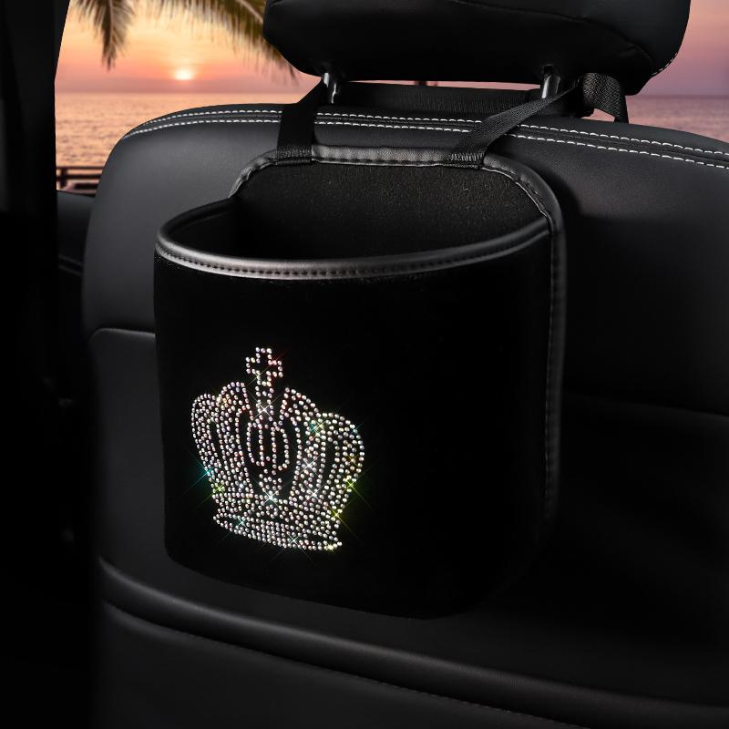 Diamond-Crown-Car-Storage-Bag-Hanging-Rhinestone-Auto-Organizer-Pocket-Barrier-of-Backseat-Holder-5