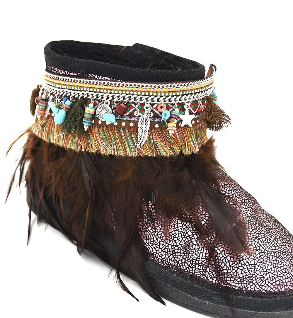 Barefoot Sandals Boho Anklet bracelet Gypsy Barefoot tornozeleira pulseras tobilleras feather Black tassel charm Ankle bareclets