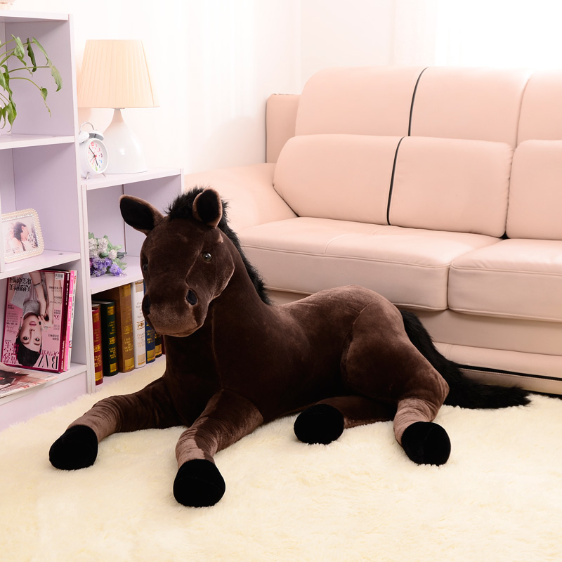 BOOKFONG-1PC-Simulation-Animal-70x40cm-Horse-Plush-Toy-Prone-Horse-Doll-For-Birthday-Gift