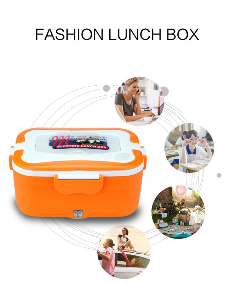 Car heating lunch box Multifunctional stainless steel insulated lunch box car electric lunch box17