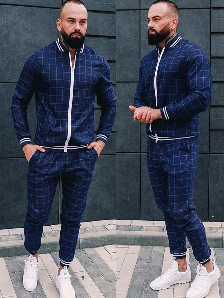 2021 New Men's Autumn Gentlemen Tracksuit Set Jackets Sets Tracksuit Men Sportswear Male Suit Pullover Two Piece Set Casual Sets X1215