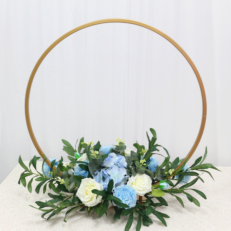 JAROWN New Wedding Party Table Centerpiece Flower Stand Artificial Flowers Home Round Backdrop Frame Shelf Decoration Accessories (4)