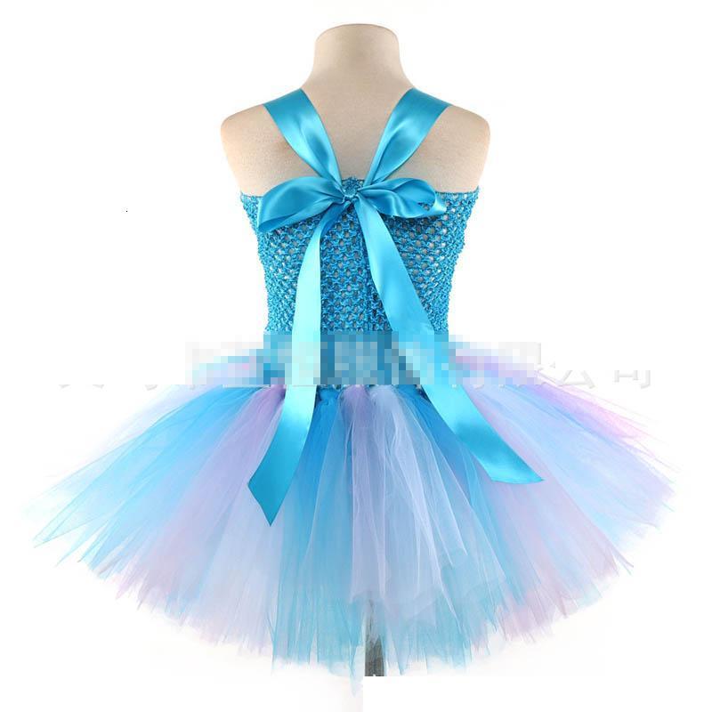 Mermaid girls dresses kids summer clothes girls princess dress Beach Party Tutu Kids Dresses kids designer clothes girls clothes A5017