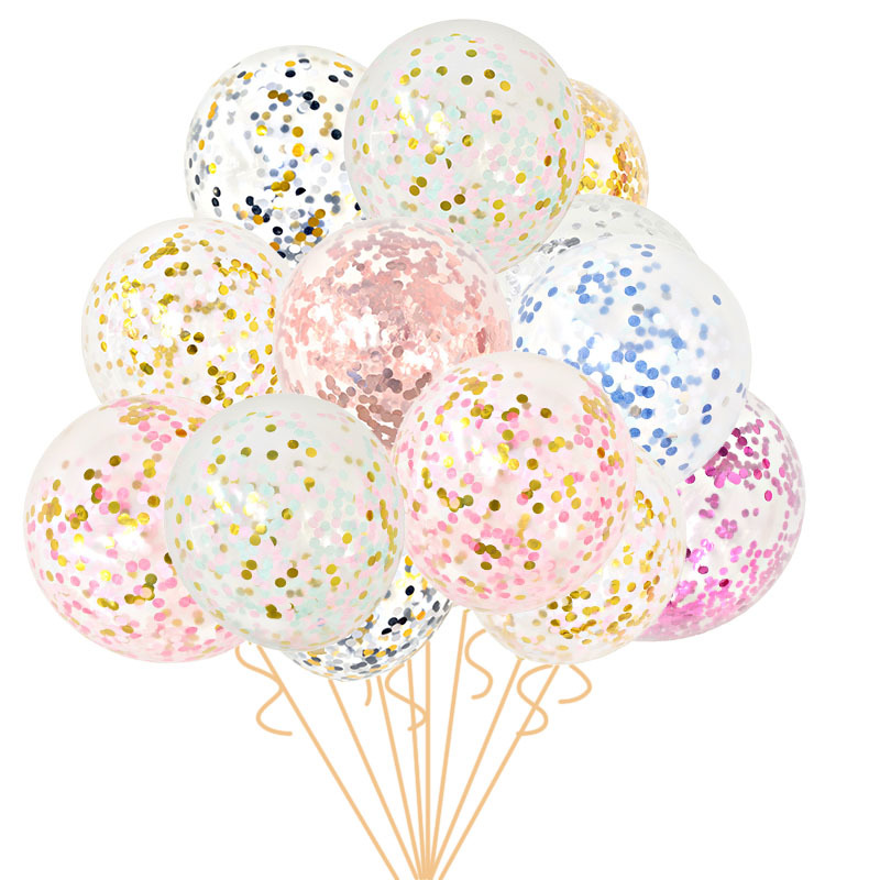 5pcs 12inch Colourful Confetti Latex Balloons Inflatable Golobs Party Balloons for Wedding Birthday Party Baby Shower Decoration