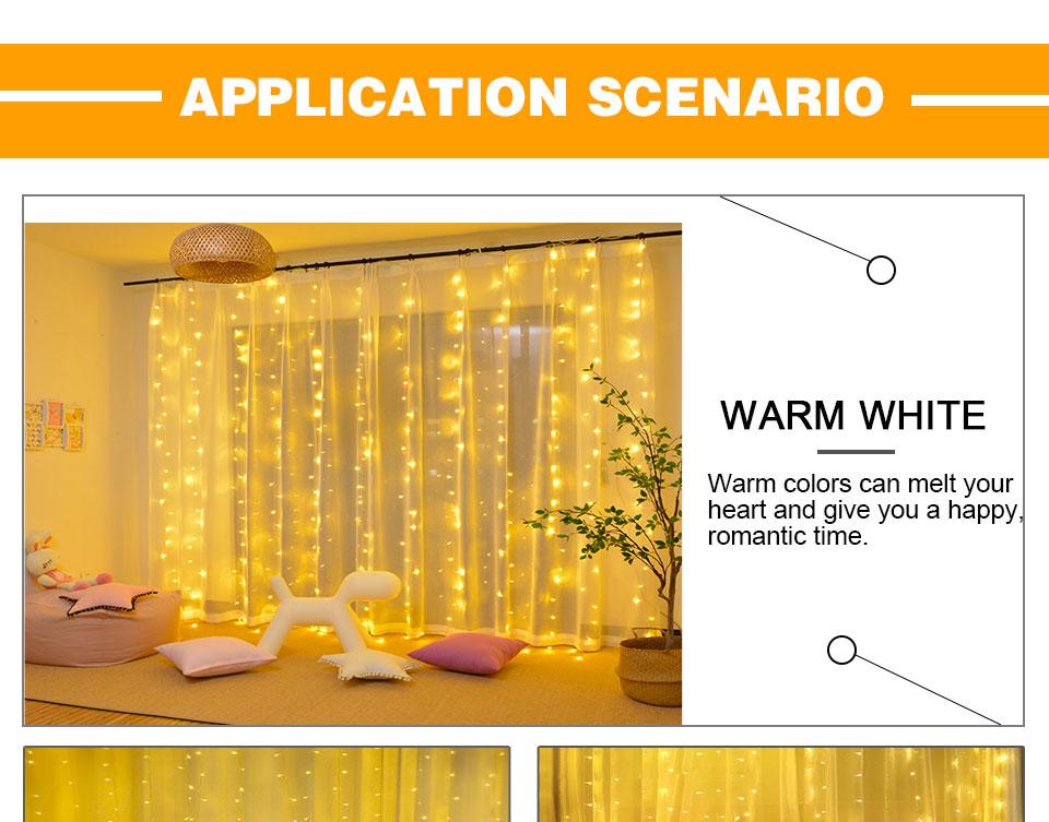4.5M led wedding fairy string light christmas lights AC 110V 220V Star Led Curtain String halloween Light Decor For Home Party (12)