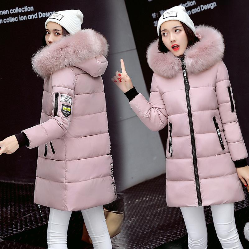 STAINLIZARD Winter jacket women warm casual hooded long parkas women coat streetwear cotton white female jacket coat outwear new (7)